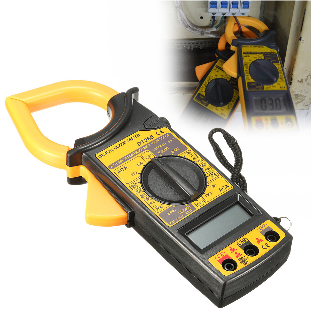 Digital Clamp Meter Dt 266 : Dt electronic digital clamp meter multimeter ac dc