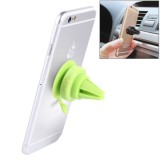 Universal 360 Degrees Rotation Car Air Vent Mount Silicone Sucker Holder Stand for Smart Phones and Tablets, Sucker Diameter: 3.5 cm, Holder Height: 4.5 cm (Green)