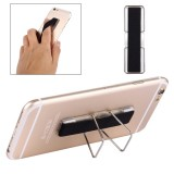 2 in 1 Adjustable Universal Mini Adhesive Holder Stand + Slim Finger Grip for Mobile Phones and Tablets, Size: 7.3 x 2.2 x 0.3 cm (Black)