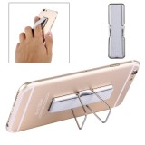 2 in 1 Adjustable Universal Mini Adhesive Holder Stand + Slim Finger Grip for Mobile Phones and Tablets, Size: 7.3 x 2.2 x 0.3 cm (Grey)
