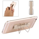 2 in 1 Adjustable Universal Mini Adhesive Holder Stand + Slim Finger Grip for Mobile Phones and Tablets, Size: 7.3 x 2.2 x 0.3 cm (Gold)
