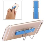 2 in 1 Adjustable Universal Mini Adhesive Holder Stand + Slim Finger Grip for Mobile Phones and Tablets, Size: 7.3 x 2.2 x 0.3 cm (Blue)