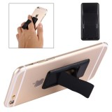 Concise Style Changeable Adjustable Universal Mini Adhesive Holder Stand for Mobile Phones and Tablets, Size: 6.4 x 3.1 x 0.2 cm (Black)