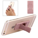 Concise Style Changeable Adjustable Universal Mini Adhesive Holder Stand for Mobile Phones and Tablets, Size: 6.4 x 3.1 x 0.2 cm (Rose Gold)