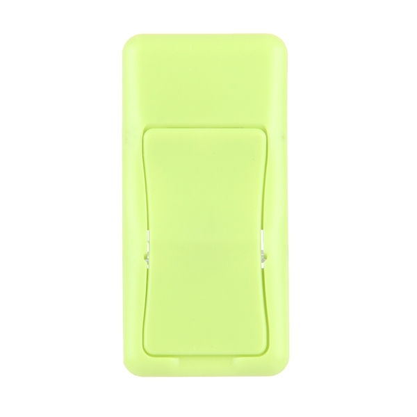 Concise Style Changeable Adjustable Universal Mini Adhesive Holder Stand for Mobile Phones and Tablets, Size: 6.4 x 3.1 x 0.2 cm (Green)