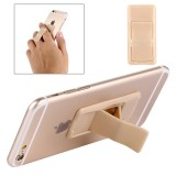 Concise Style Changeable Adjustable Universal Mini Adhesive Holder Stand for Mobile Phones and Tablets, Size: 6.4 x 3.1 x 0.2 cm (Gold)