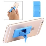 Concise Style Changeable Adjustable Universal Mini Adhesive Holder Stand for Mobile Phones and Tablets, Size: 6.4 x 3.1 x 0.2 cm (Blue)