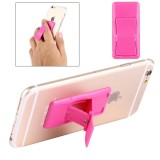 Concise Style Changeable Adjustable Universal Mini Adhesive Holder Stand for Mobile Phones and Tablets, Size: 6.4 x 3.1 x 0.2 cm (Magenta)