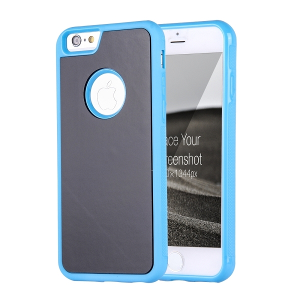 watch 15d21 9210b For iPhone 6 & 6s Anti-Gravity Magical Nano-suction Technology Sticky  Selfie Protective Case (Blue)