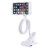 Universal Multifunctional Flexible Long Arm Lazy Bracket Desktop Headboard Bedside Car Phone Holder Stand Tablet Mount with Clamping Base for iPhone, iPad, Samsung, HTC, Sony, Google, Huawei, Xiaomi, Meizu, OPPO (White)