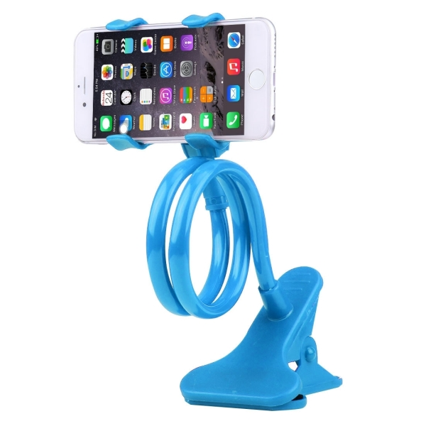 Universal Multifunctional Flexible Long Arm Lazy Bracket Desktop Headboard Bedside Car Phone Holder Stand Tablet Mount with Clamping Base for iPhone, iPad, Samsung, HTC, Sony, Google, Huawei, Xiaomi, Meizu, OPPO (Blue)