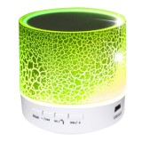 A9 Mini Portable Bluetooth Stereo Speaker with Built-in MIC & LED, Support Hands-free Calls & TF Card & AUX IN, Bluetooth Distance: 10m (Green)