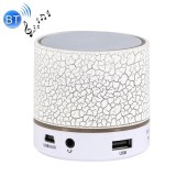 A9 Mini Portable Bluetooth Stereo Speaker with Built-in MIC & LED, Support Hands-free Calls & TF Card & AUX IN, Bluetooth Distance: 10m (White)