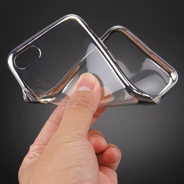 For iPhone 7 Electroplating TPU Protective Back Cover Case (Silver)