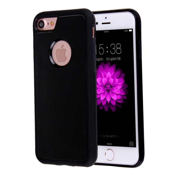 for iphone 7 anti gravity magical nano suction technology sticky selfie protective case black. Black Bedroom Furniture Sets. Home Design Ideas
