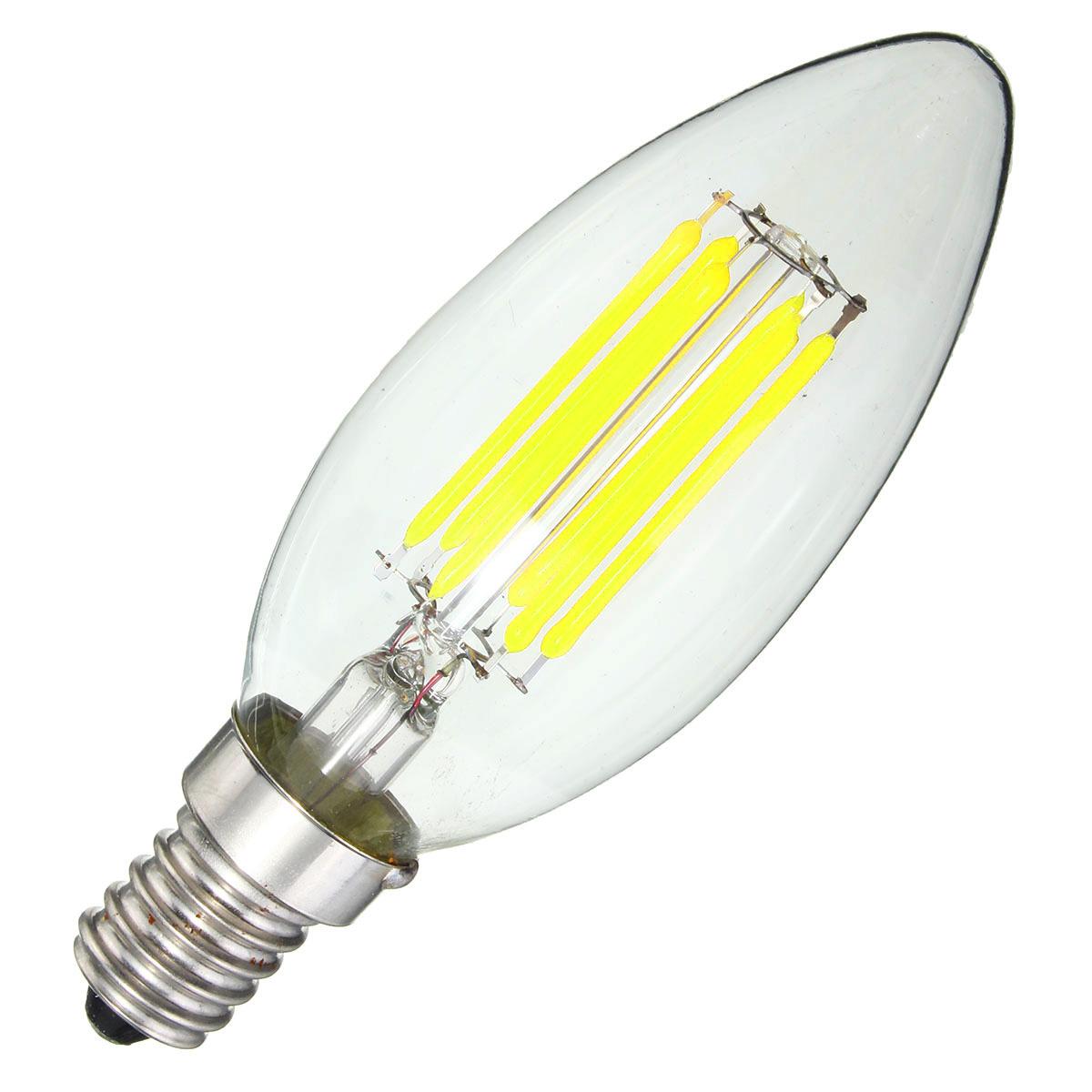 dimmable e14 6w cob 600lm edison filament bulb led light. Black Bedroom Furniture Sets. Home Design Ideas