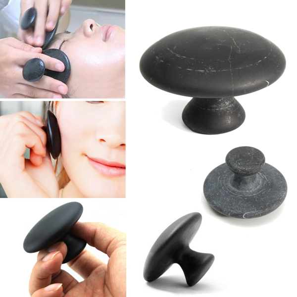 1pcs natural black bian gua sha massage sone mushroom for Ab salon equipment reviews