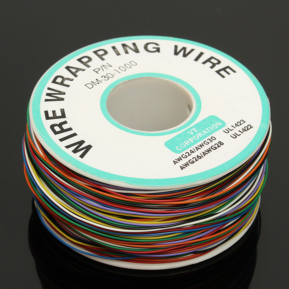 250M 8-Wire Colored Insulated P/N B-30-1000 30AWG Wire Wrapping ...