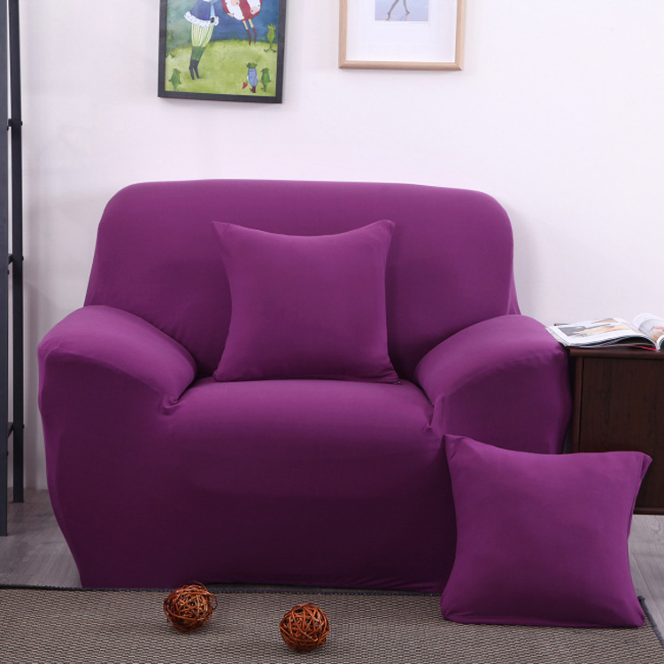 Three Seater Solid Colors Textile Spandex Strench Elastic