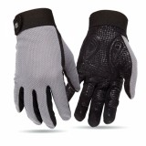 Full Finger Cycling Gloves Bike Gloves Touch Screen Phone Gloves Gray L