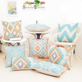 45x45cm Square Linen Pillow Cases Nordico Geometric Pattern Chair Cushion Home Office Decor