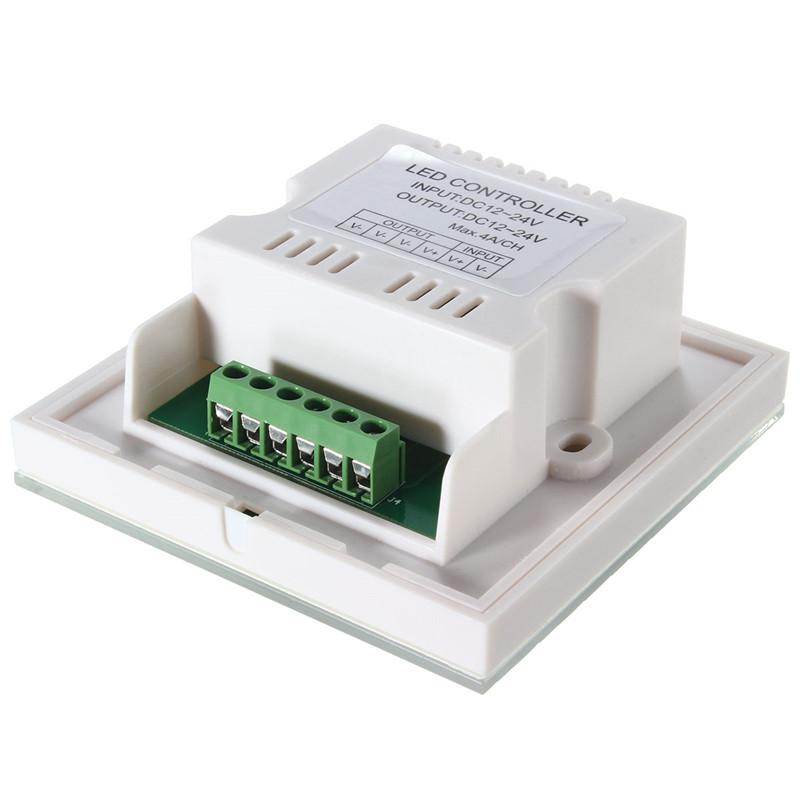 single color touch panel dimmer wall switch controller for led light strip dc12 24v alex nld. Black Bedroom Furniture Sets. Home Design Ideas