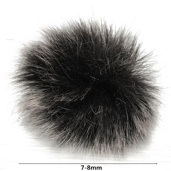 Lapel Microphone Mic Windscreen Windshield Wind Fur Muff For Lapel Lavalier