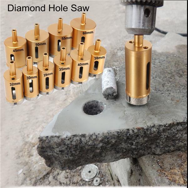 Diamond Core Drill Bit >> 28-60mm Diamond Hole Saw Drill Core Bit For Marble Granite Tile Ceramic | Alexnld.com