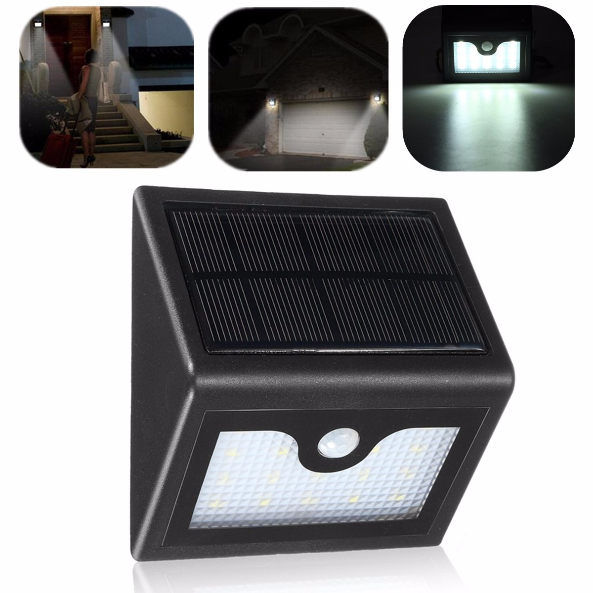 16 Led Solar Power Pir Motion Sensor Wall Light Outdoor