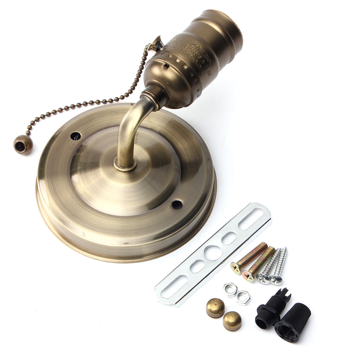 E27 Antique Vintage Wall Light Chain Design Sconce Lamp Bulb ... for Bulb Holder Design  585hul