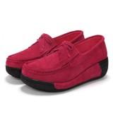 Casual Lace Up Rocker Sole Shoes Breathable Soft Sole Shoes