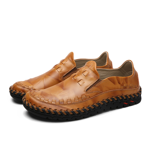 new leather slip on outdoor casual soft comfortable