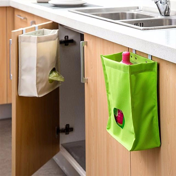 Kitchen Hanging Cabinet: Kitchen Storage Bag Drawer Cabinet Door Back Garbage Bag
