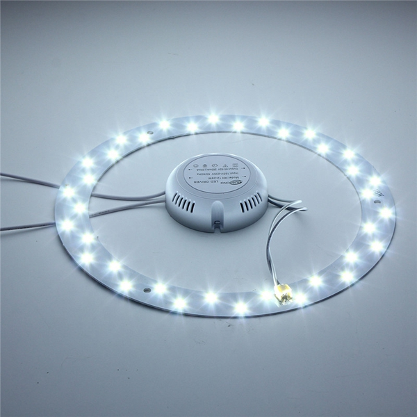 Lights & Lighting Ceiling Lights Smart 12w 24 5730 Led Saving Panel Circle Annular Efficient Ceiling Light Pure White^