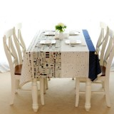 Aircraft Pattern Cotton Linen Tableware Mat Table Runner Tablecloth Desk Cover Heat Insulation Bowl