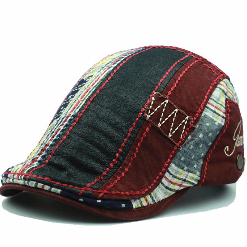 Men Cotton Washed Beret Hat Buckle Adjustable Paper Boy Newsboy ... 10ad149a5433