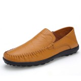 US Size 6.5-11.5 Men Leather Flat Casual Soft Outdoor Breathable Flats Loafers Shoes