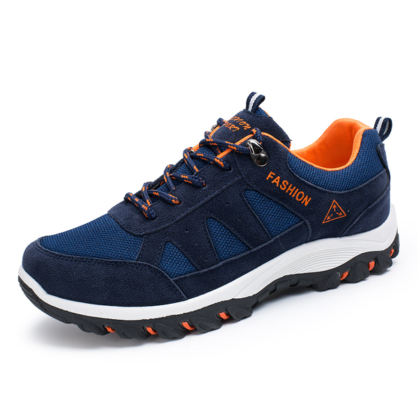 Men Casual Outdoor Sport Shoes Running Mesh Breathable Flat Lace Up Athletic Shoes