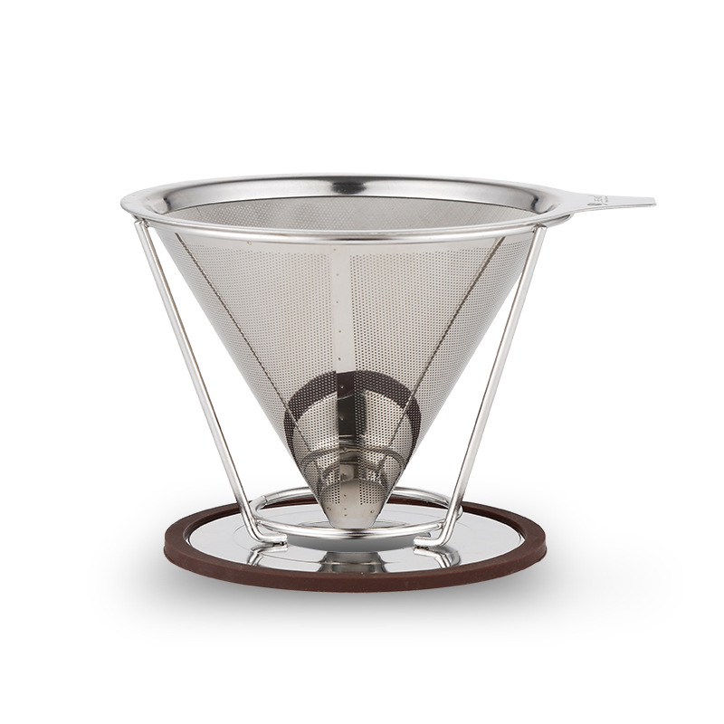 portable reusable stainless steel v type cup cone coffee filters drip coffee maker tool. Black Bedroom Furniture Sets. Home Design Ideas