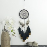 Hand-woven Natural Feathers Dreamcatcher American Folk-custom Gifts Hanging Decor Ornament
