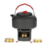 Outdoor Cooking Stove Burner Set With Water Kettle Teapot Support Bracket Camping Picnic Cookware
