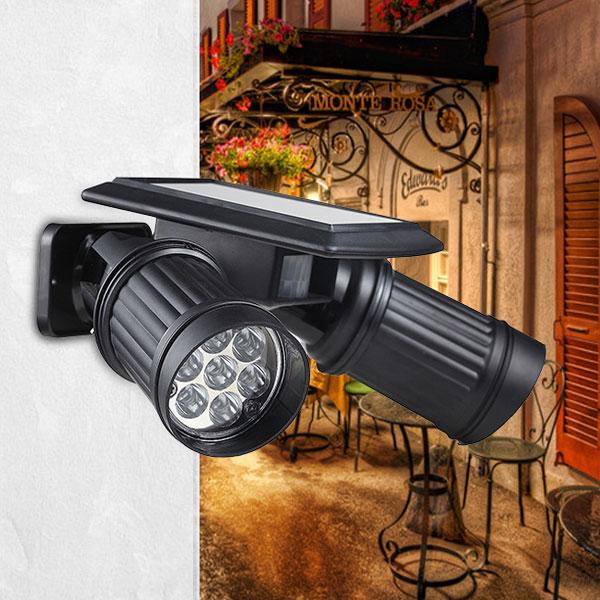 Garden Solar Superbright 14 LED Spotlight Patio Garage