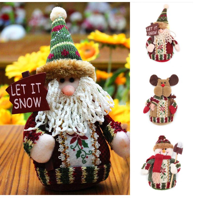 Christmas supplies snowman decoration cloth old man dear toy doll alex nld - Decoration interieure man of cloth ...