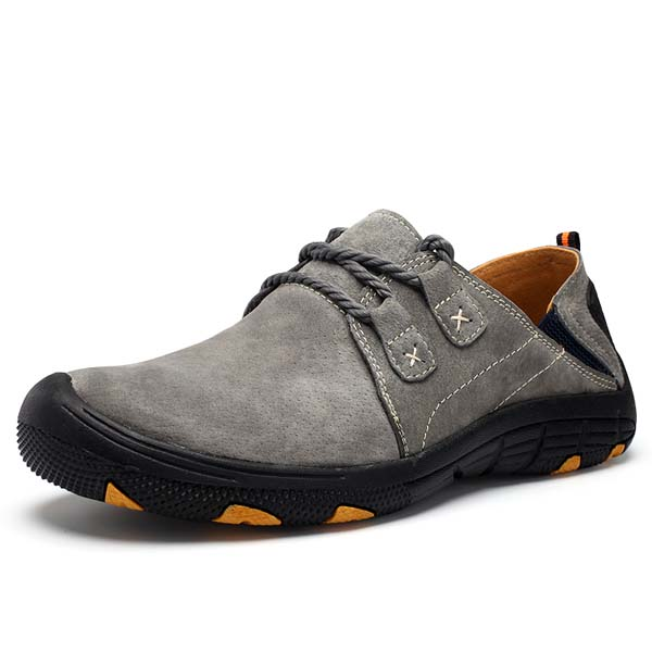 Men Hiking Shoes Leather Soft  Comfortable Wear and Slip Resistant Sport Running