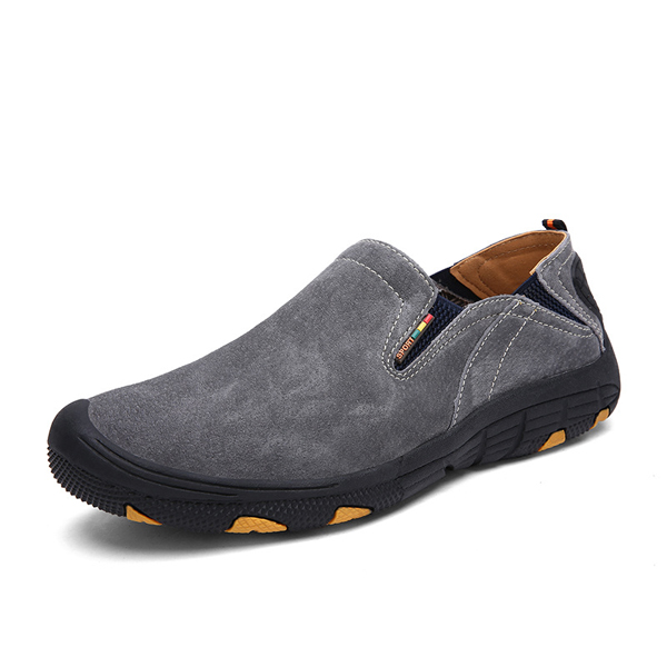 soft leather comfortable casual hiking shoes wear and