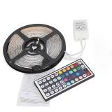 5M SMD 3528 RGB 300 LED Waterproof Strip Light For Xmas Holiday Decor Power Supply DC12V