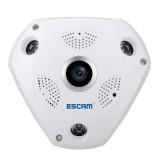 ESCAM Shark QP180 960P 360 Degrees Fisheye Lens 1.3MP WiFi IP Camera, Support Motion Detection / Night Vision, IR Distance: 10m