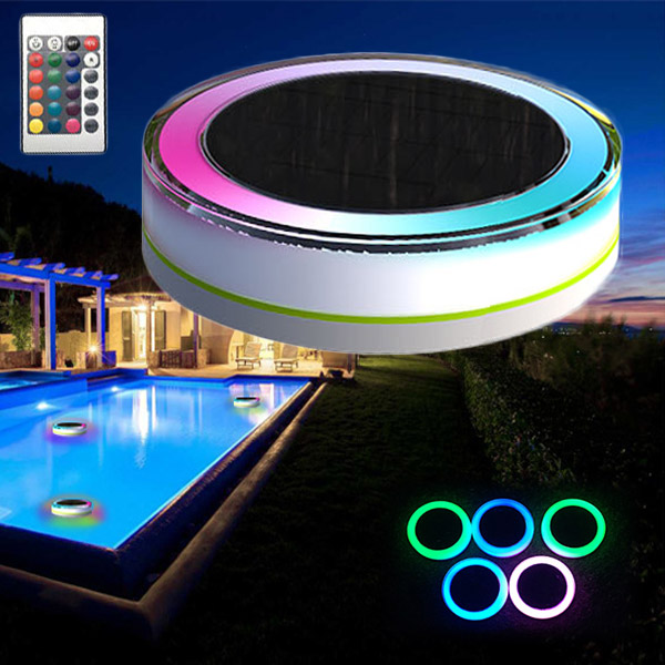 Remote control solar power led colorful swimming pool - Lampe de piscine led ...
