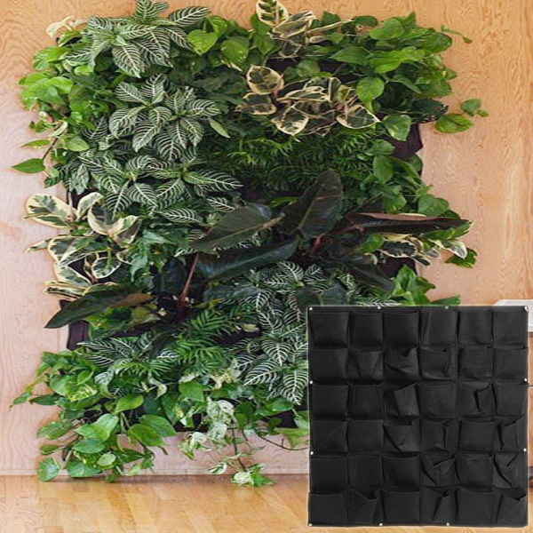 36 Pockets Wall Mounted Hanging Planter Indoor Outdoor