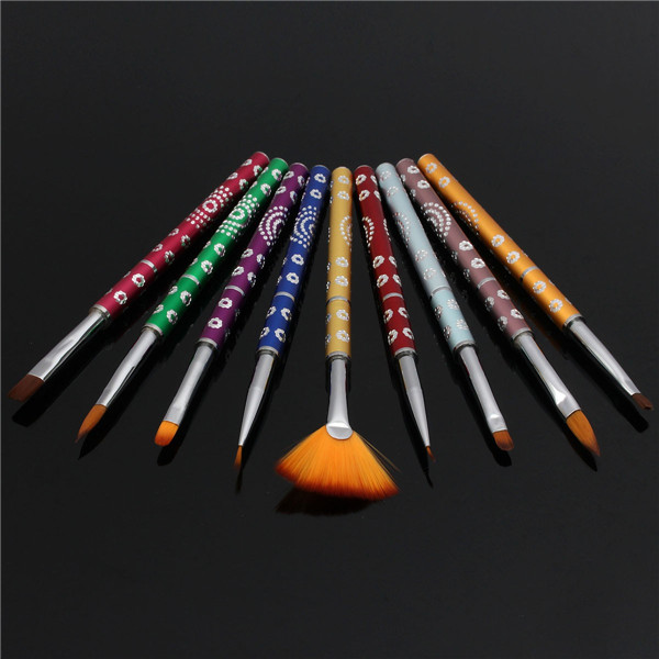 Professional Nail Art Brush Detachable Painting Pen Gel Polish Design Brushes Drawing Manicure Tool
